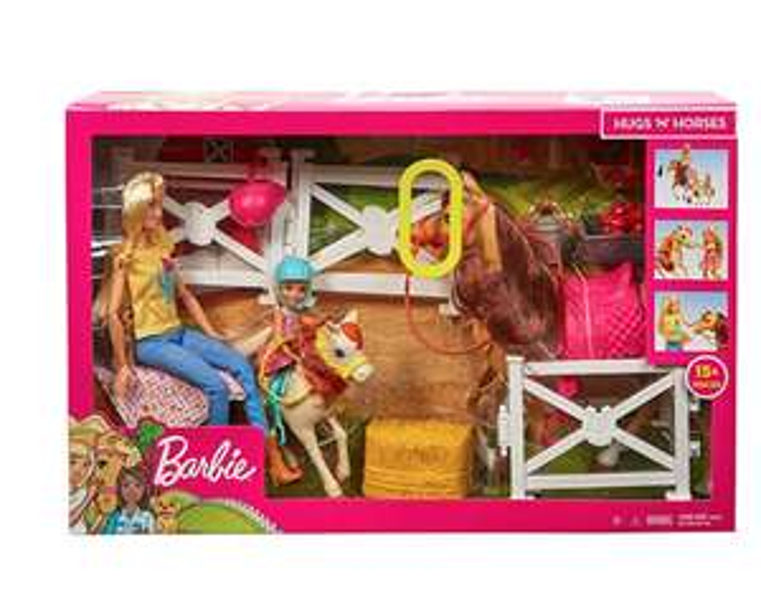 Barbie hugs and horses set £25 @ sainsbury's stafford