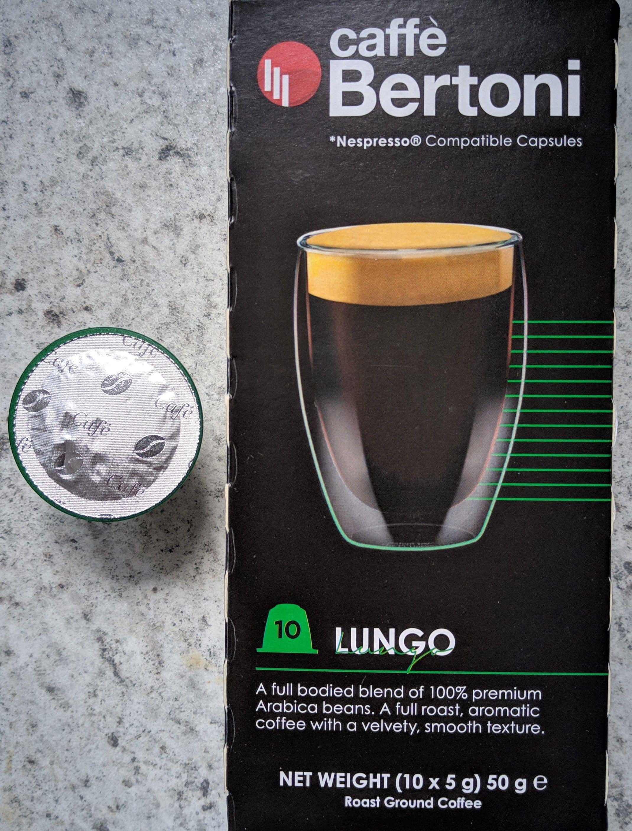 Caffe Bertoni Nespresso compatible Lungo capsules (10 x 5g) 89p @ B&M Oswestry