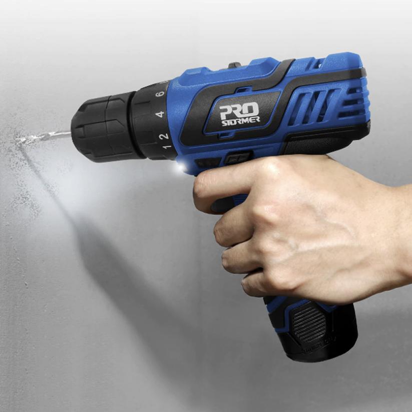 PROSTORMER Sale - E.G - 12V Electric Cordless Drill With UK Plug via EU £18.19 Delivered @ AliExpress / Prostormer Official Store