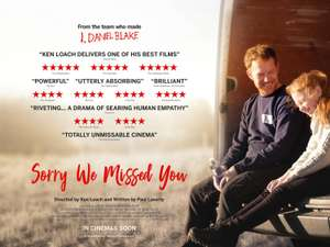 Free cinema tickets to Sorry We Missed You - Mon, 21 Oct 2019 at 6:30pm