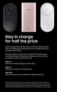 Half Price on Selected Accessories for Samsung Members @ Samsung