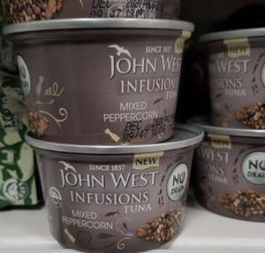 John West Infusions Tuna Mixed Peppercorn 49p at Home Bargains Nantwich in Cheshire