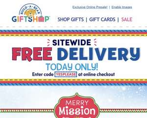 Free Delivery with Voucher Code @ Build A Bear
