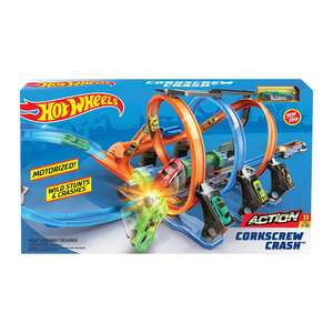 Hot Wheels Corkscrew Crash Stunt Track £25 @ Sainsbury's In Store