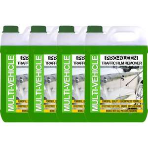 4 x 5L Pro-Kleen Traffic Film Remover (pre-wash) £30.98 at prokleen.co.uk +5% off