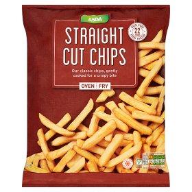 Asda Frozen Chips 50p for 1kg,  1.25kg & £1.5kg - found in Asda Redditch.