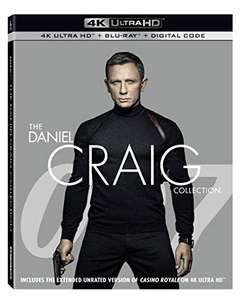 007 - The Daniel Craig Collection (4k UHD + Blu ray + Digital Copy) (Releases 22/10/19) 43.70 delivered @ Amazon US
