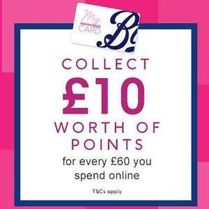 Boots bonus points Event -  £10 worth of points for every £50 spent instore or £60 online