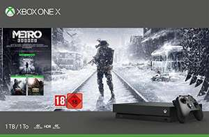 Xbox One X Metro Exodus Bundle £294.87 (£283.87 with fee free card) @ Amazon Germany