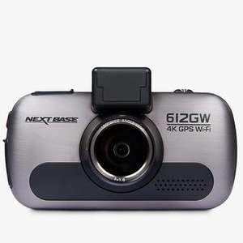 Nextbase Dash Cam 612GW, 4K UHD, with Wi-Fi, GPS & Anti-Glare Filter £109 John Lewis & Partners