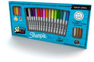 Big pack of 23 sharpie special edition pens  £4.99 HOME BARGAIN st Johns