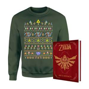 The Legend Of Zelda Christmas jumper and book bundle for £26.98 @ Zavvi