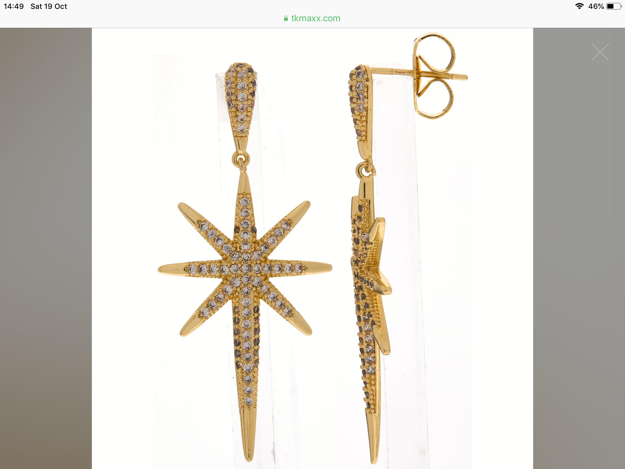 Meme London earrings £12.99 @ TK Maxx (£1.99 C&C)