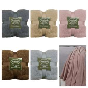Teddy Bear Fleece  Blanket  Throw - Choice of 5 Colours - £6.99 Delivered @ eBay - onlinehomeshop