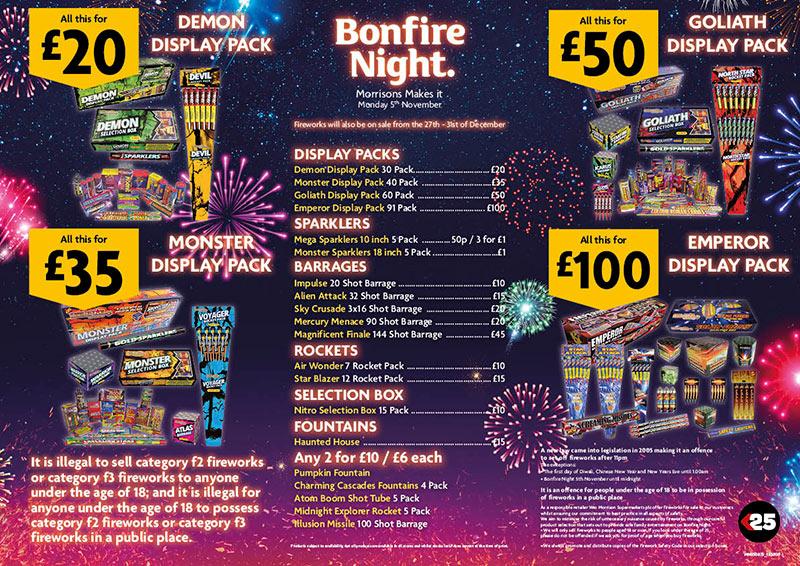 Fireworks Starting at £20 @ Morrisons