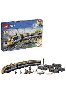 LEGO 60197 City Trains Passenger Train Set, Battery Powered Engine, RC Bluetooth Connection, Tracks & Accessories £79.99 @ Amazon