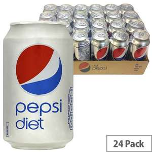 Pepsi Max and Pepsi Diet 24 pack of 330ml cans instore @ Lidl