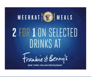 2 for 1 on selected drinks at Frankie & Benny's with every adult main to go with 2 for 1 meals (Compare the Market)