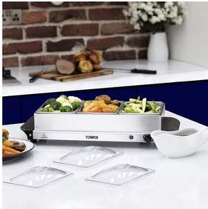 Tower Three Tray Buffet Server and Plate Warmer £15.99 @ Food Warehouse (Iceland) Barnsley