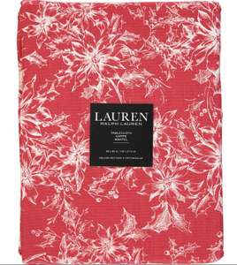 Ralph Lauren Red Floral Tablecloth 213 x 152cm online TK MAXX £14.99 -  1.99 Click & Collect /  3.99 delivery free over £50/70