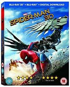 Spiderman Homecoming 2D & 3D Blu Ray Ltd Edition with comic on eBay for just £6.99, cracking price delivered @ cast-iron-dvds / eBay
