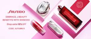 15% off Shiseido beauty products with voucher code @ Unineed