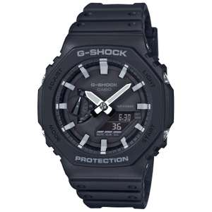 """G-Shock G-Steel Black Resin Strap Watch GA-2100-1AER """"Thinnest G-Shock ever"""" £89.99 with email subscription at H Samuel"""