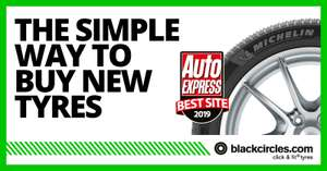 10% off Michelin, Goodyear, Dunlop or Kumho tyres, 15% off Yokohama tyres. All sizes & quantities with Voucher Codes @ Black Circles