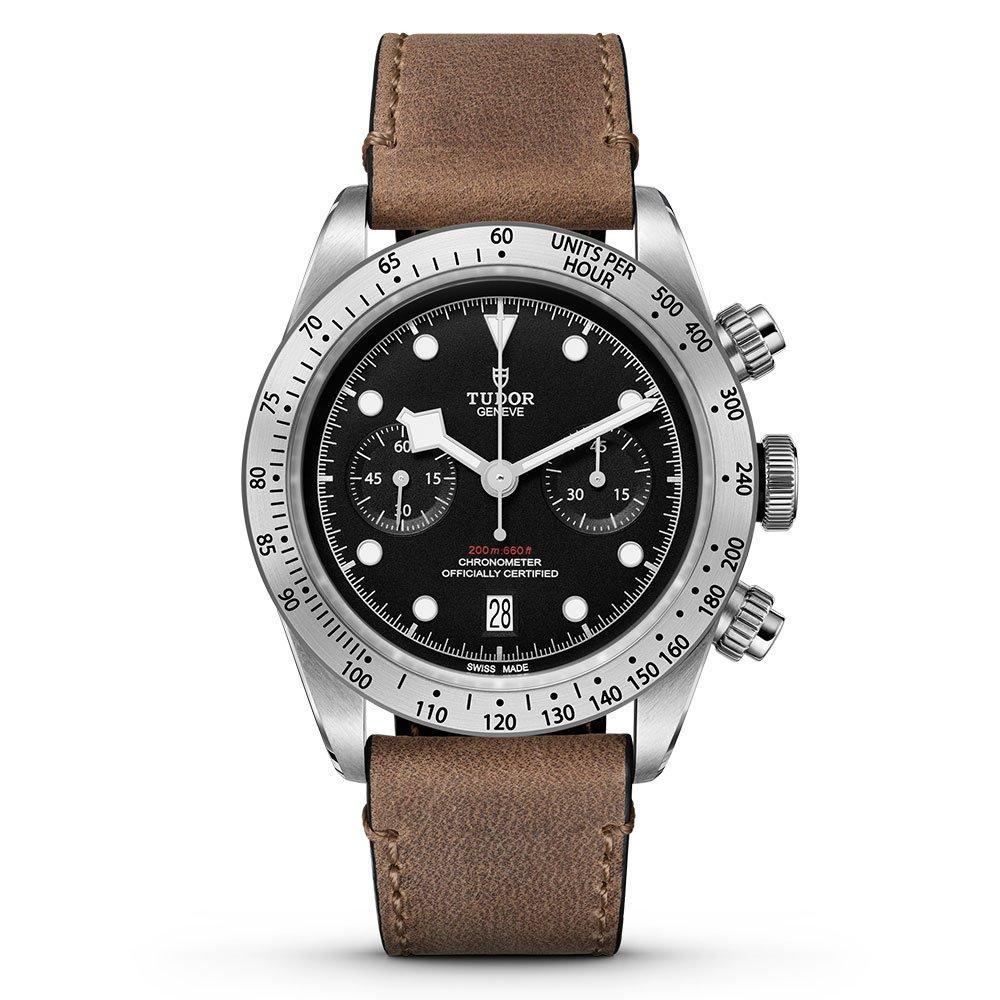 Tudor Heritage Black Bay Chrono Steel Automatic Men's Watch, £2,457 @ Beaverbrooks
