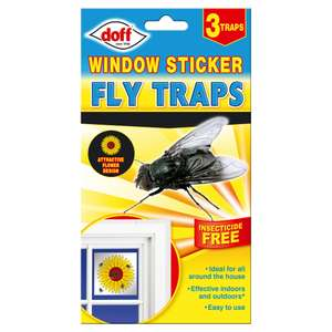 Doff window sticker fly traps 20p instore at Wilko
