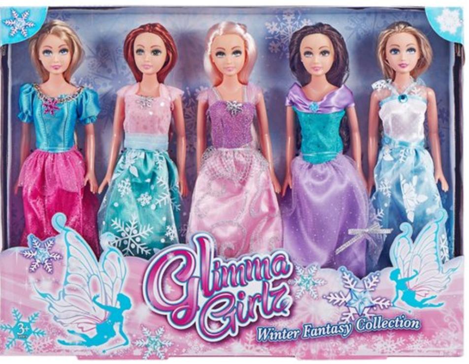 Glimma Girlz Fantasy 5 Pack Dolls £10 @ Tesco