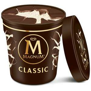 Twin pack of Magnum Tub Classic Ice Cream 440ml tubs - £3 @ Fulton Foods
