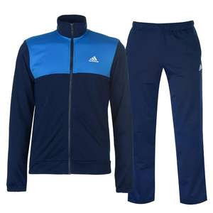 Adidas Basic Poly Tracksuit Mens Small £24 + £4.99 delivery @ Sports Direct