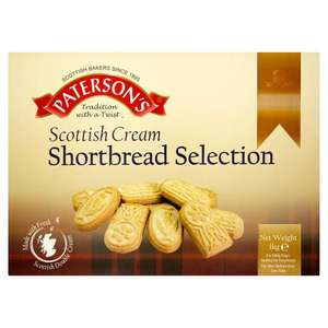 Paterson's Scottish Cream Shortbread Selection 2 x 500g (1kg) £3 from Iceland