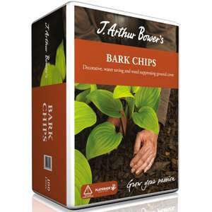 J Arthur Bowers Bark Chips 100L – £5 Homebase – reserve & collect discount offer