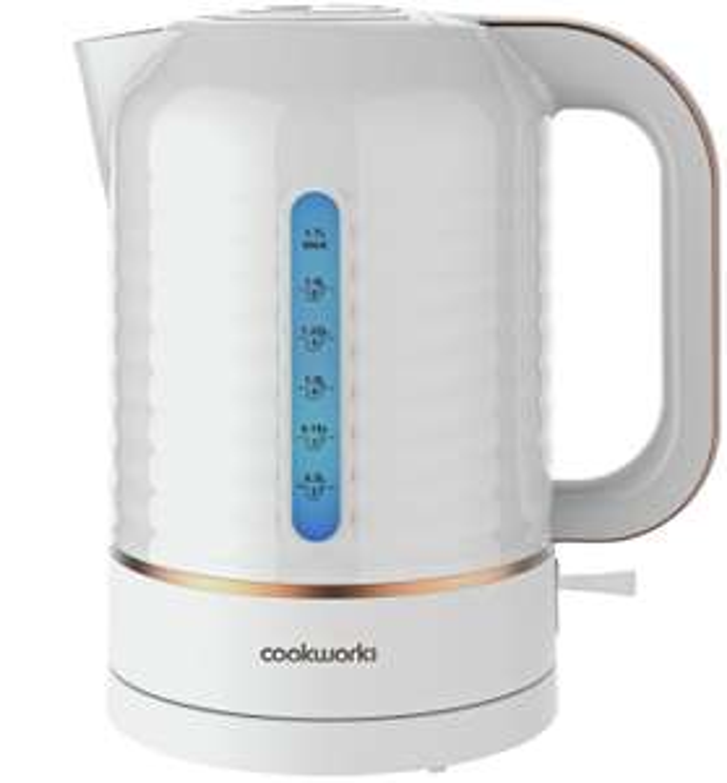 Cookworks Horizon Stripe 3kW 1.7L Kettle, or  2 SliceToaster - White - £12.49 @ Argos free Click & Collect