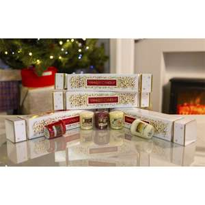 Official Yankee Candle White 'Christmas Cracker' Table Decoration with five candles inside for £5 delivered @ Yankee Bundles