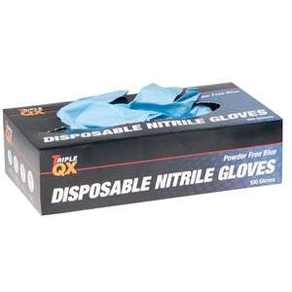 TRIPLE QX Box Of 100 Ecp P/ Free Nitrile Gloves Xlarge £1.33 at Euro Car Parts