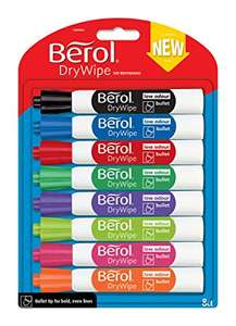 Berol Double Ended Dry Wipe Pens £1.99 Home Bargains Letchworth