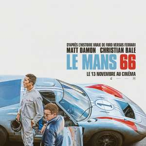 Le Mans '66 , 2 free cinema tickets via My Sky app