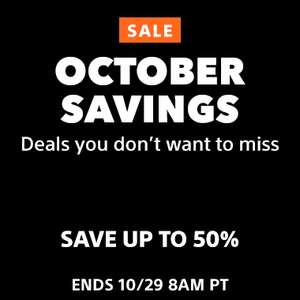 October Savings at PlayStation PSN Store US