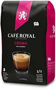 Café Royal Crema Roasted Coffee Beans, 1 kg £10.39 Prime / +£4.49 delivery Non Prime @ Amazon or £7.79 with Subscribe & Save