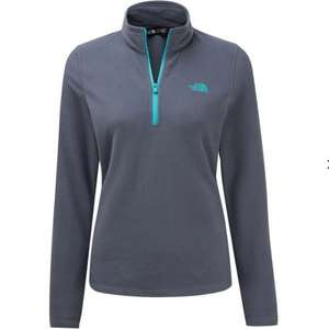 The North Face Womens Cornice II 1/4 Zip Fleece :  Grisaille Grey/Ion Blue - £23 @ Cotswold Outdoor