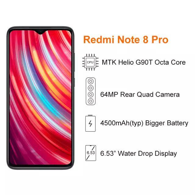 Original Xiaomi Redmi Note 8 pro 6GB 64GB Mobile Phone MTK Helio G90T Octa Core 6.53'' Screen £168.91 AliExpress C1 Global Store