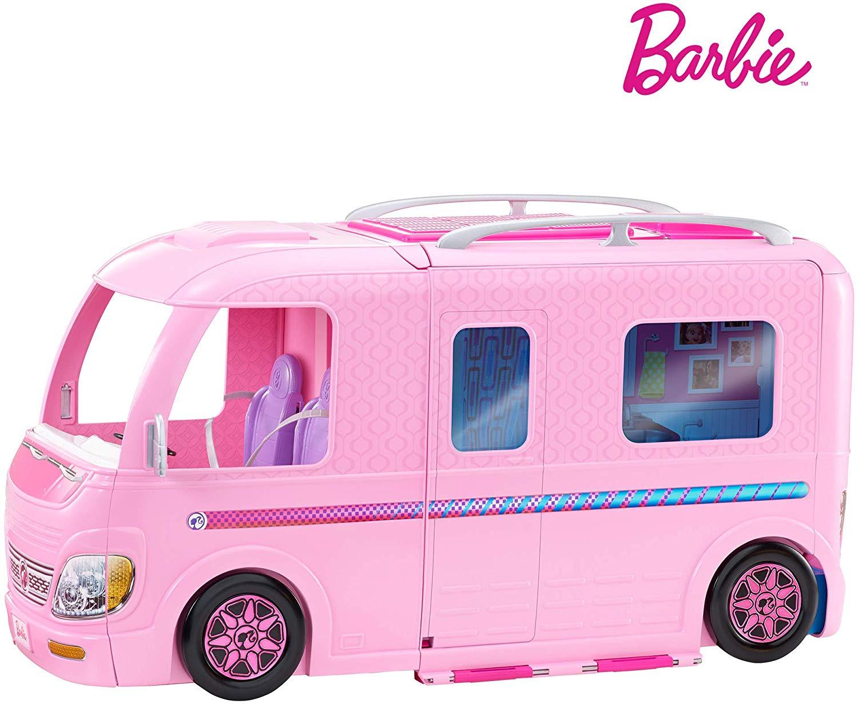 Barbie FBR34 ESTATE Dream Camper Pink Pop Out Caravan for Dolls £55 @ Amazon