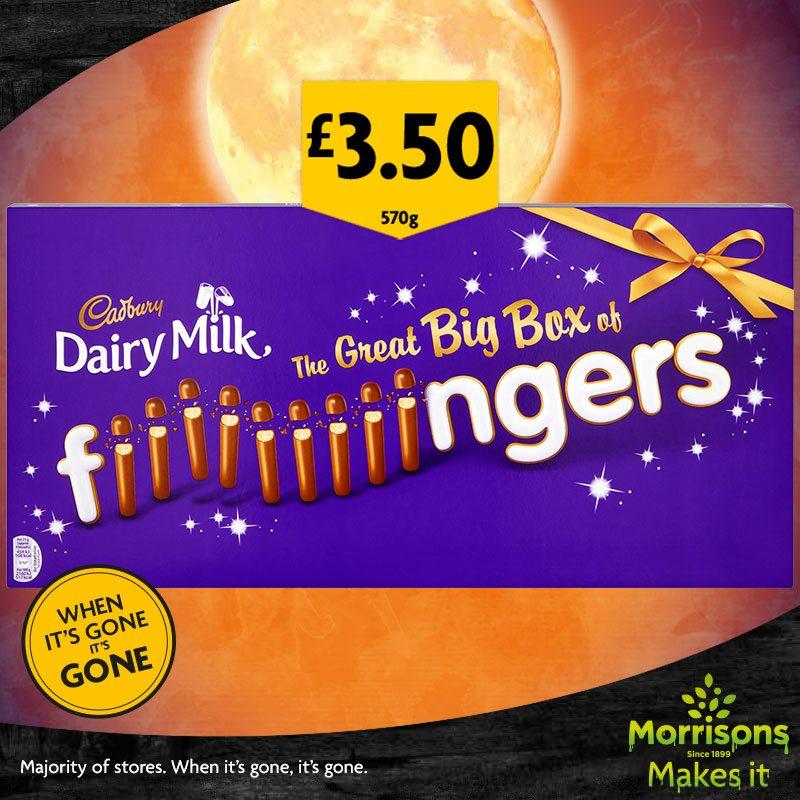 Cadbury Fingers Big Box ,108 fingers per pack £3.50 @ Morrisons Instore