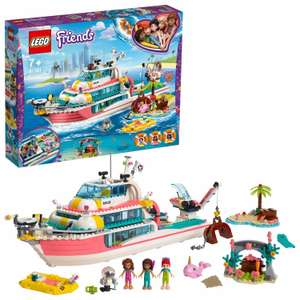LEGO 41381  Friends Rescue Mission Boat Toy Sea Life Set £47.70 @ Argos