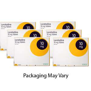 Loratadine 6 month supply 10mg  (6x30 tablet packs) £4.79 with free delivery at Pharmacyfirst