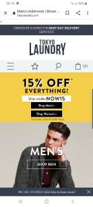 15% off Tokyo Laundry