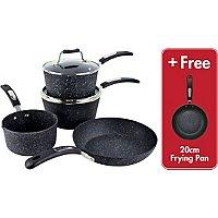 Scoville Neverstick 4 Piece Cookware Set + Free Frying Pan + Lifetime Guarantee, Now £35 @ Asda (Free Click & Collect)